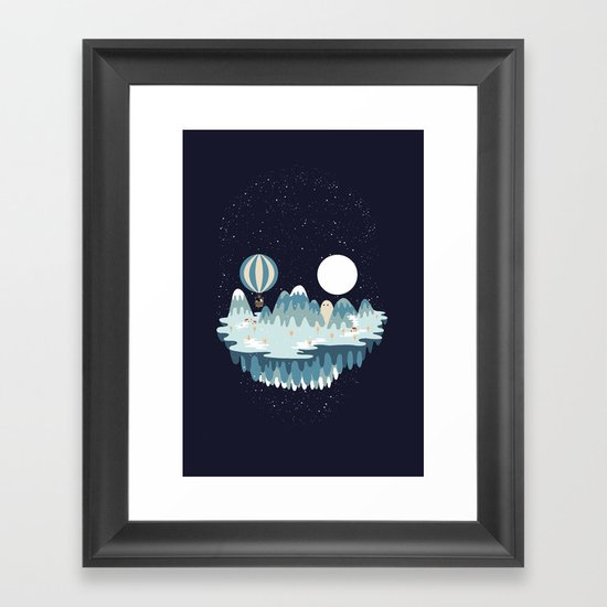 Winter skull Framed Art Print