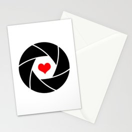 Aperture heart Stationery Cards