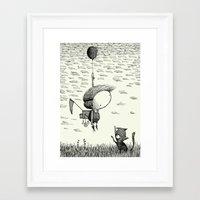balloon Framed Art Prints featuring 'Balloon' by Alex G Griffiths