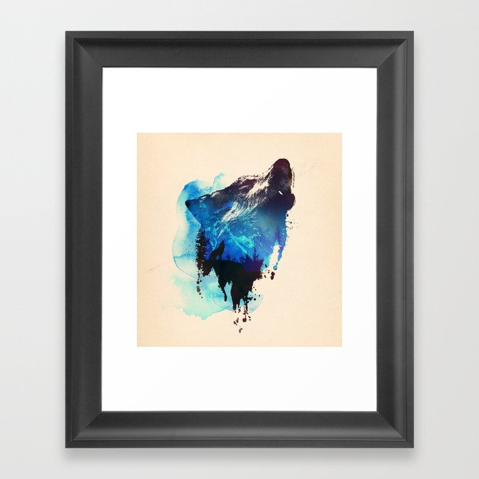 Alone as a wolf Framed Art Print