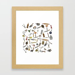 vintage utensils Framed Art Print