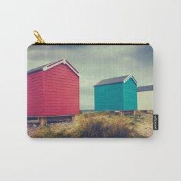 British Retro Beach Huts Carry-All Pouch