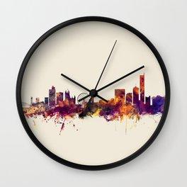 Manchester England Skyline Wall Clock