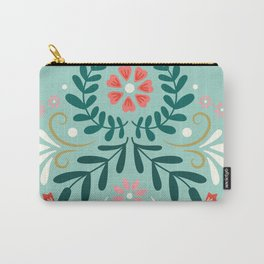 Floral Folk Pattern Carry-All Pouch