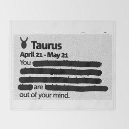 Taurus 1 Throw Blanket