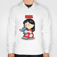 lilo and stitch Hoodies featuring Ohana Lilo and Stitch by Jasmine Victoria