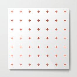 PLUS ((cherry red on white)) Metal Print