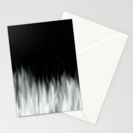 Glowing Fire - Black and White Stationery Cards