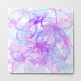 Soft Veils Of Color Abstract Metal Print