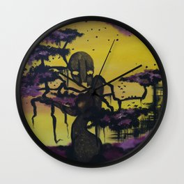 Purple Forest Wall Clock
