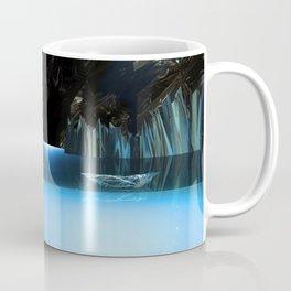 3d Art Digital Art Cave Lake Coffee Mug