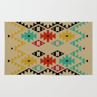 bohemian Area & Throw Rugs featuring Bohemian n2 by spinL