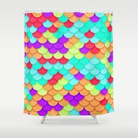 scales Shower Curtains featuring Scales by Timothy M. LeBlanc