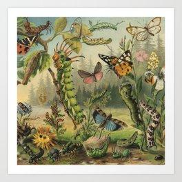 Cute Caterpillar Art Print