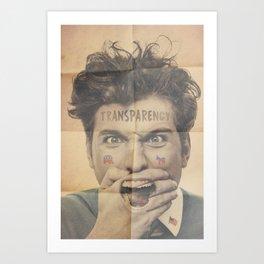 Political Transparency Art Print