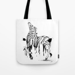 Dripping Zebra Tote Bag
