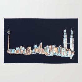 Kuala Lumpur - Midnight Version Rug