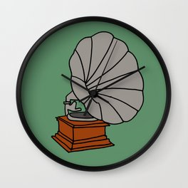 Grammophone Wall Clock