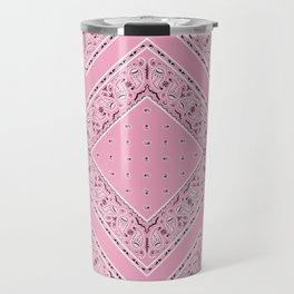 Pink Bandana Diamond Patches  Travel Mug