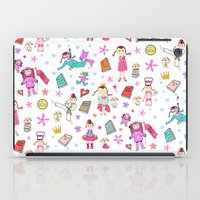 girl power iPad Cases featuring Girl Power by Art Tree Designs