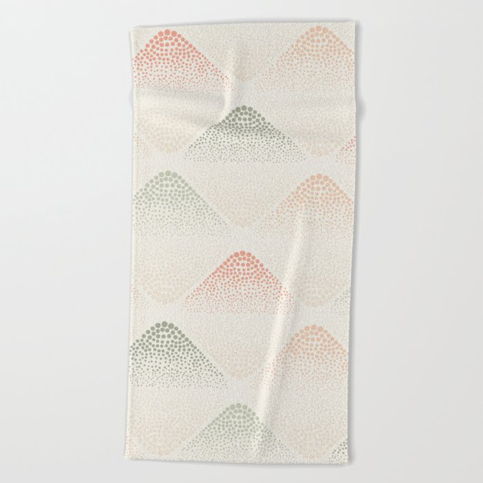 Retro Dotted Pattern 05 Beach Towel