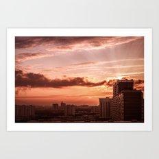 Dawn in the city V2 Art Print