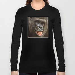 Smiling Gorilla (^_^) Long Sleeve T-shirt