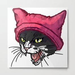 The Cat in the Hat (Black&White) Metal Print