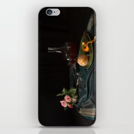 Orange and roses still life iPhone Skin