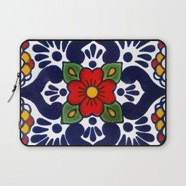 talavera mexican tile in blu Laptop Sleeve