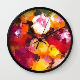 Delicious Floral Wall Clock