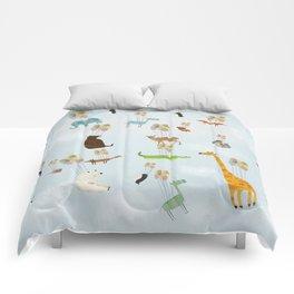 the sky zoo Comforters