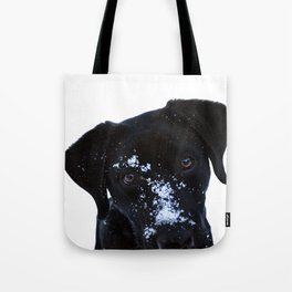 Winter Labrador Tote Bag