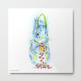 Forest Animals series - Squirrel Metal Print