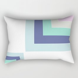 Simple geometric patchwork Rectangular Pillow