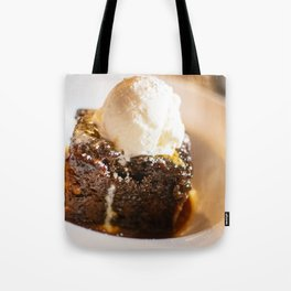 Sticky toffee pudding and ice-cream Tote Bag