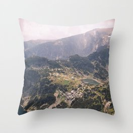 7 Rila Lakes Throw Pillow
