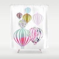 ballon Shower Curtains featuring Ballon by Lydia Wienberg