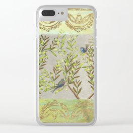 Twittering // birds // gossiping // tree branches Clear iPhone Case