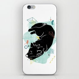 Dreaming wolf illustration iPhone Skin