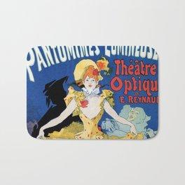 Vintage film history ad Jules Cheret Bath Mat