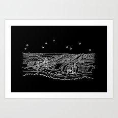 Oxford, England City Skyline Art Print