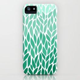 Ombre Leaf Design iPhone Case