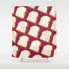Peanut Butter & Jelly Sandwich Pattern Shower Curtain