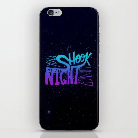 All Night Long iPhone & iPod Skin