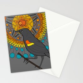 redwing blackbird and pentagon Stationery Cards
