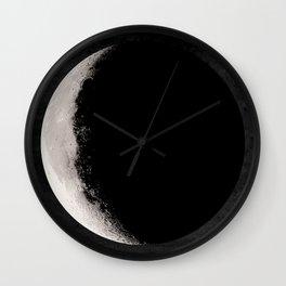 Crescent Moon Poster, Moon Art Print, Square Moon Print, Wall Art, Home Decor, Luna Poster, Moon Print, Lunar Moon Print, Luna Moon, Crescent Moon, Black and White, Crescent Moon Art Print, Moon Phase Wall Clock