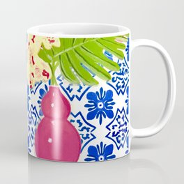 PINK PARROT AND PORTUGESE TILES Coffee Mug