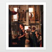 Backstage at the San Francisco Opera Art Print