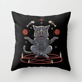 Devious Cat Throw Pillow